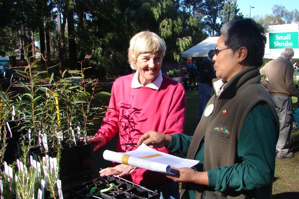 Val and Ratna at Plant Sale